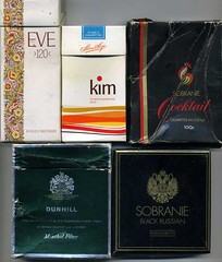 Cigarette Packaging  miscellaneous (sludgegulper) Tags: eve kim box cigarette smoking cocktail filter packaging carton boxes packet cartons cigarettes tobacco 120s balkan packets dunhill blackrussian sobranie virtualtobacconist mehtnol