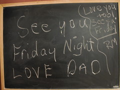 chalkboard notes (daniell-o) Tags: love chalk cool dad notes board father daughter chalkboard