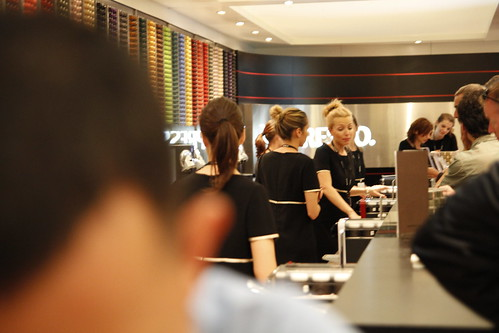 Nespresso girls hard at work