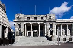 Steps of Parliament House (russellstreet) Tags: newzealand sky steps bluesky staircase wellington nzl parliamenthouse newzealandparliamentbuildings
