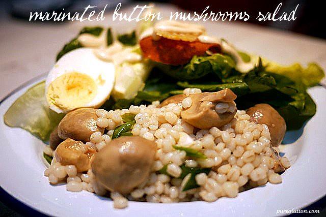 button mushroom salaad