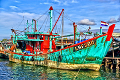 Trawler fishing boat from Philippines at Labuan Port (sydbad (out of office)) Tags: from sea fish port canon boat is fishing philippines malaysia sabah trawler labuan f3556 eos60d efs18135mm
