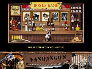 free Fandango's slot bonus