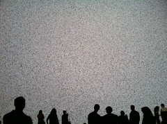 mesmerized by numbers (hsingy) Tags: silhouette data visualization ikeda ryoji