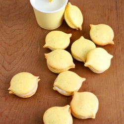 Tart Lemon-Shaped Macarons