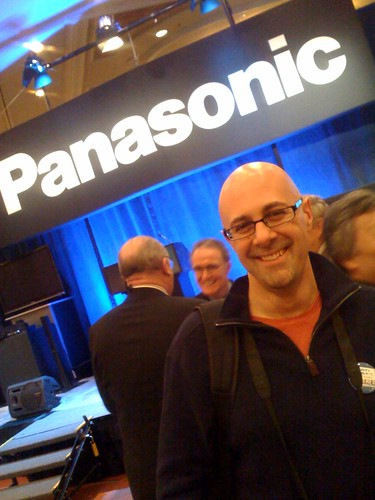 Greg Verdino at Panasonic Press Conference