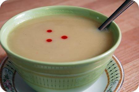 Polka-dot soup