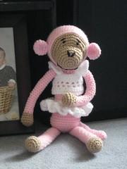 Tutu Cute Monkey (Draegonflies) Tags: pink monkey crochet amigurumi babytoy