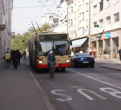 Bicicleta e ônibus
