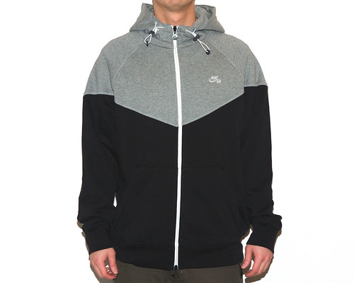 Nike Sportswear Knit Windrunner - Grey/Black