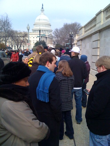 Line for #inaug09 tickets at Cannon building