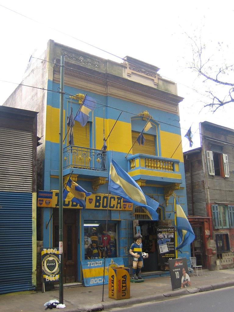 boca juniors shop, la boca, buenos aires, argentina