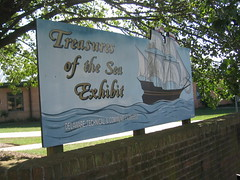 Treasures of the Sea Exhibit Sign