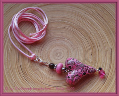 """heart """"winter colors"""" PINK (Erdbeerfroeschchen - ANTje) Tags: necklace heart charm polymerclay fimo clay herz pedant polymer halskette ycollier halsbaumler"""