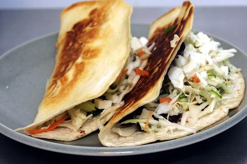 crisp black bean tacos with feta and slaw | smitten kitchen