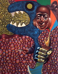 Edema (Jimmy McCullough) Tags: sanfrancisco art painting san francisco paint artist acrylic surrealism jimmy painter dada artbrut mailart avant garde avantgarde brut mccullough fluxus artsits maultrommel doromb rompida sanfranciscoartist jimmymccullough rompidamedialab jewsharpplayer