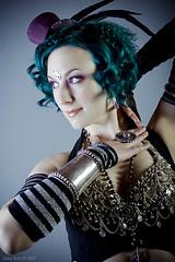 Sideshow (exoskeletoncabaret) Tags: green studio punk handmade circus gothic tribal lolita freak bellydance vintagepunk mollymitchell libbybulloff deshret lindseywatkins