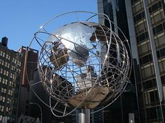 Globe at Columbus Circle (Gary Burke.) Tags: nyc newyorkcity ny newyork hotel globe manhattan steel landmark midtown trump columbuscircle centralparksouth trumpinternationalhotel garyburke