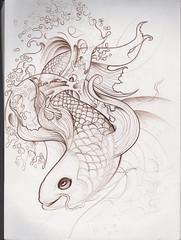 Agua y pez (stilachotattoo) Tags: lapiz dibujos medellin desing tatuajes lapicero marcador diseador cesarfigueroa diseosparatatuaje stilachotattoo medellinnarkografika lomejorenmedellin