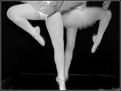 Together - _AD02970b (Giannux) Tags: blackandwhite bw ballet music art classic dance dancing legs stripes danza duo move bn luci bale astratto biancoenero ballo syncro gambe saggio linee ballare scarpette classica ballerine duetto balletto striscie pasdechat tut classicballet