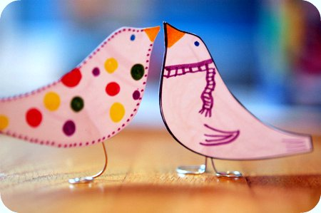 A Peek Inside The Fishbowl Blog Archive Paper Birds An Easy Craft