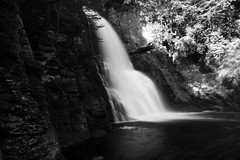 "Bushkill Falls in Black and White • <a style=""font-size:0.8em;"" href=""https://www.flickr.com/photos/34058517@N02/3302511590/"" target=""_blank"">View on Flickr</a>"
