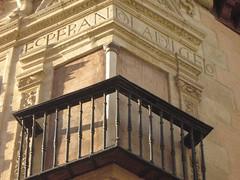 Inscripcion en la fachada de la Casa de Castril