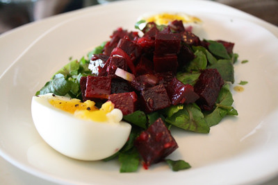 Egg, Beet and Watercress Salad