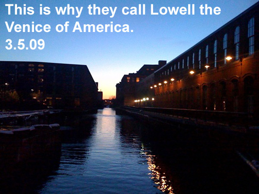 This is why they call Lowell the Venice of America.