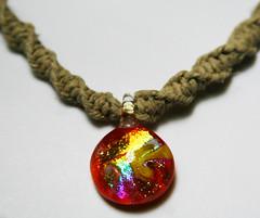 supernova (craftyh) Tags: glass nova festival necklace natural twist super jewelry hippie beaded pendant hemp heady carolyncraftyetsycom