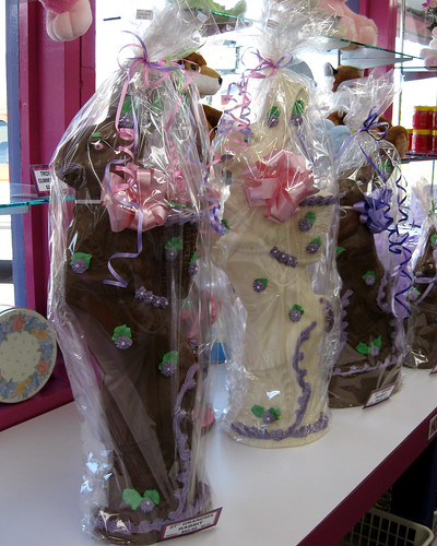 giant chocolate bunnies
