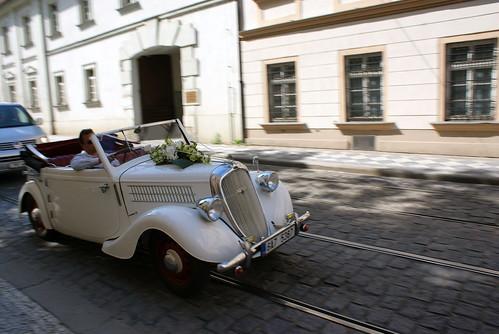 A wedding car in Prague