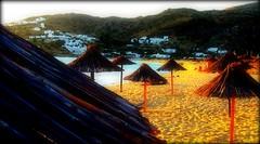 Sombrillas en la Milopotas Beach, Ios (Clo McBeal) Tags: hellas greece grecia mediterrneo mediterraneansea hlade