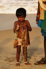 Absolutely Beautiful... (Apollo's Eye) Tags: india beach beautiful beauty necklace beads eyes child tan perfection darkskin