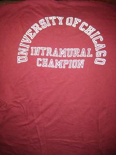 Intramural champion, back