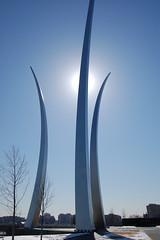 US Air Force Memorial - Arlington, Virginia (fisherbray) Tags: usa monument arlington memorial unitedstates airforce usaf arlingtoncounty airforcememorial fisherbray