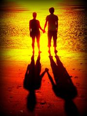 Lovers (pimpmasta ste) Tags: new beach silhouette seaside brighton tourist resort promenade top20colorpix colorphotoaward platinumheartaward