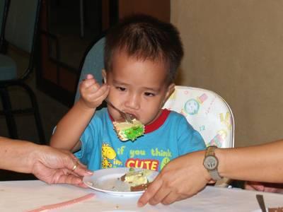 Julian eats cake