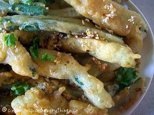 Tempura Green Beans w/ Chile, Garlic, & Sesame Aioli