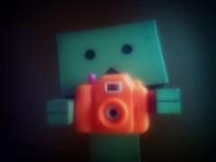 Orange Glow.. (willycoolpics.) Tags: camera orange dark toy scary action plastic figure picnik danbo revoltech danboard