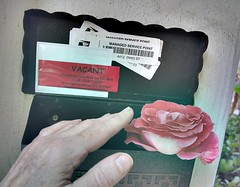 vacant (beryl) Tags: house selfportrait home loss rose mailbox sadness hand sad mail vacant melancholy grief