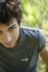 But all i Need... (AndreaUPl) Tags: boy portrait guy smile grass 50mm dof bokeh andreaupl