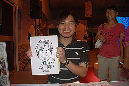 caricature live sketching for LG Infinia Roadshow - day 2 -16