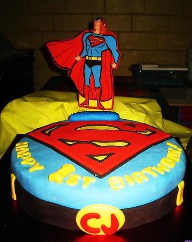 81. superman cake