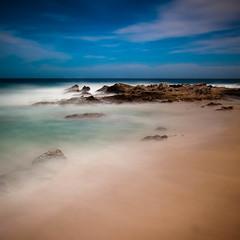 Where the Land Meets the Sea (Jeff Engelhardt) Tags: ocean blue sea green beach mexico sand cabo rocks long exposure waves peace crash jimmy wave shore baja buffet cabosanlucas peninulsa