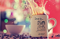 Another drop of coffee and I will explode (Fabio Sabatini) Tags: cup coffee canon 50mm bokeh f14 splash