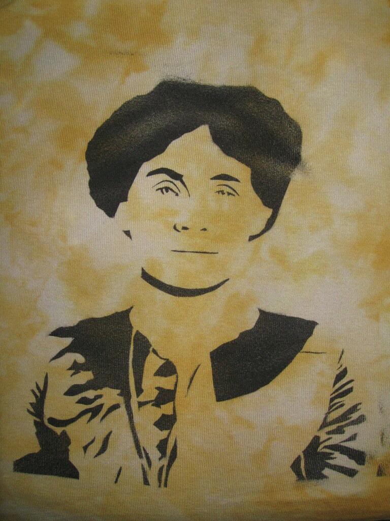 Emmeline Pankhurst on a T-shirt