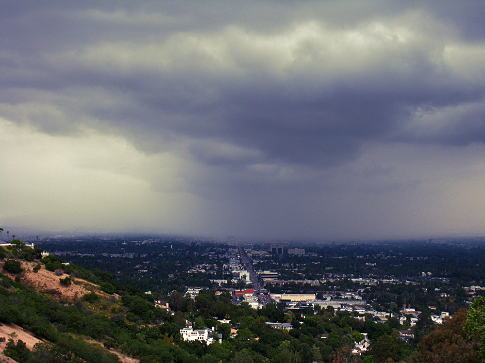 San Fernando Valley From the hills off of BevGlen+rain storm-3