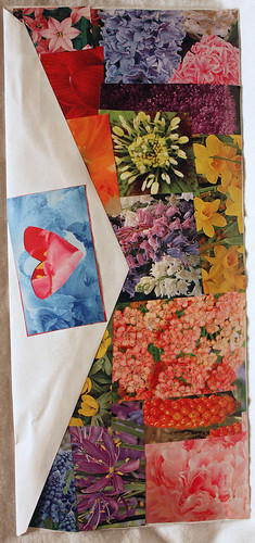 Mail art flower envelope (back)