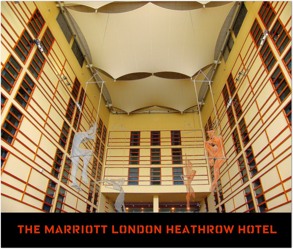 ( Our 9500th item on Flickr! Celebration time! )The wonderful modern and beautiful Marriott Hotel London-Heathrow International Airport - Business hotel and vacation dream at this Landmark Airport! 20